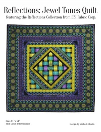 Reflections: Jewel Tones Quilt by by Sasha K Studio